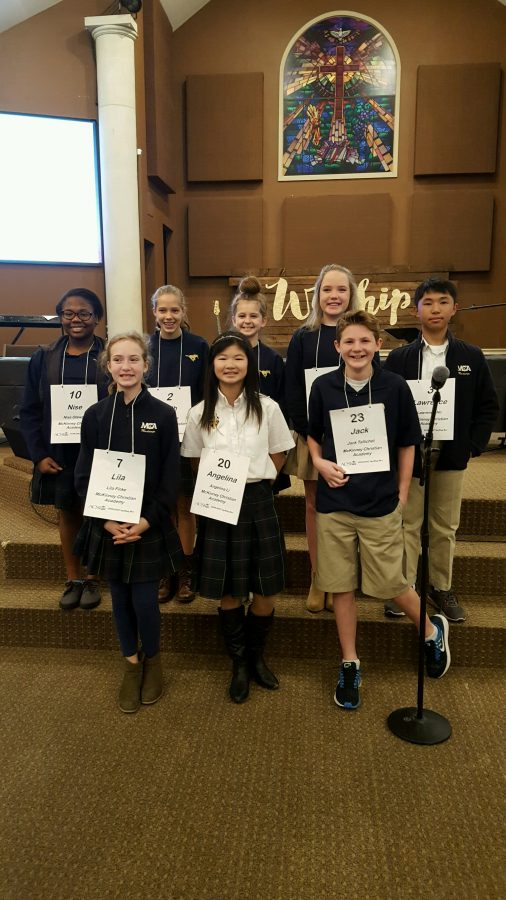 ACSI Middle School Spelling Bee