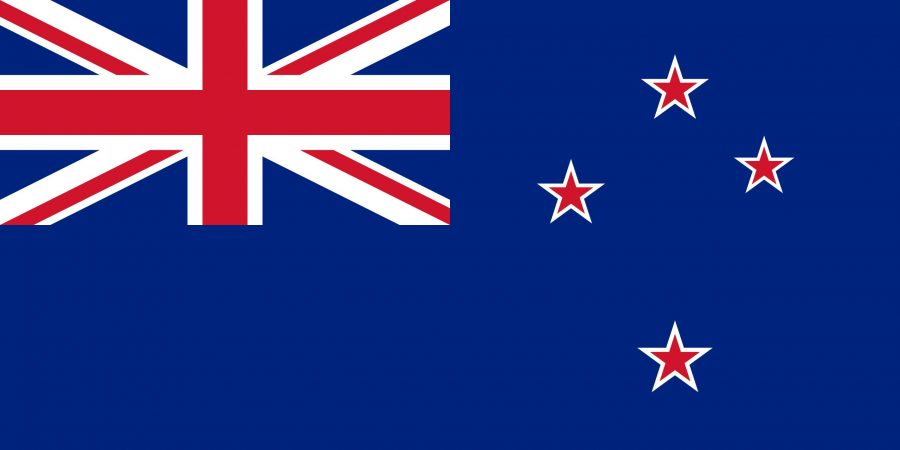 The flag of New Zealand.