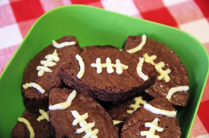 Yummy football brownies