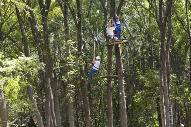 Zip Line Day hosted by the Heard Natural Science Museum and Wildlife Sanctuary