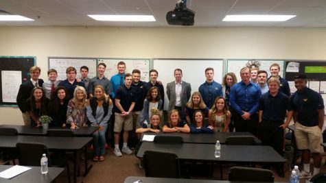 Derek Baker & MCA's senior class