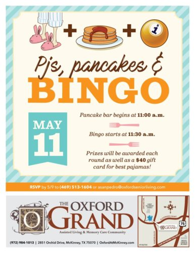 Pjs, Pancakes, and Bingo