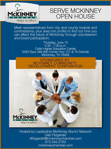 Join SERVE MCKINNEY to represent your organization