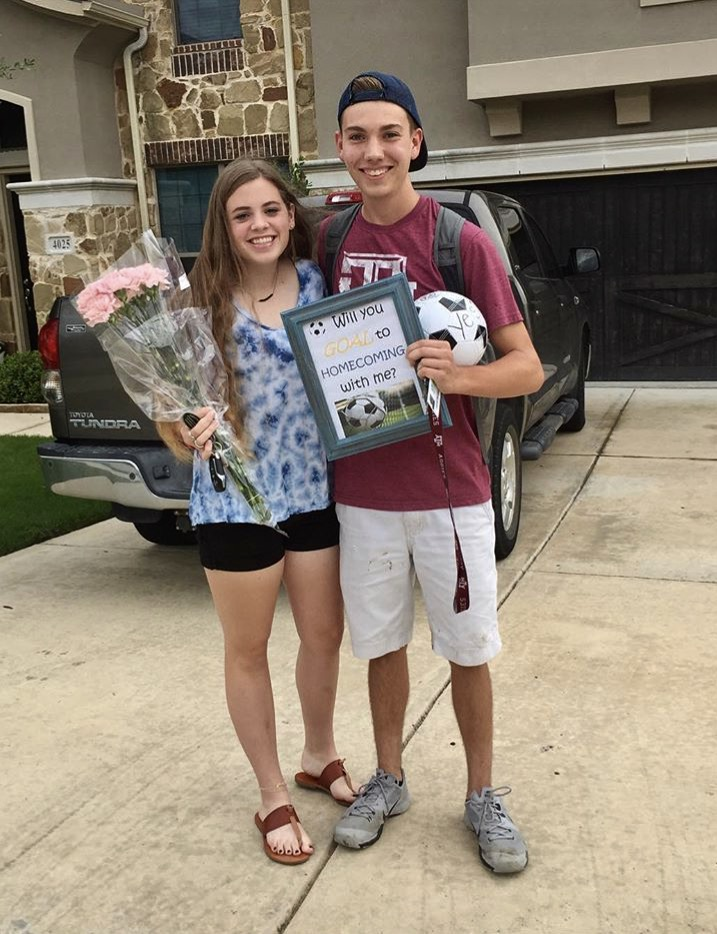 These two seniors, Clara O'Niel and Keaton Emerson, have just found a date to Homecoming!