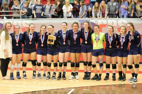 Lady Mustang state volleyball team