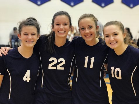 This years All Star team- Sierra Pitts 6th, Abbi Cooper 8th, Lizzie Smith 8th, and Abigail Dahl 8th
