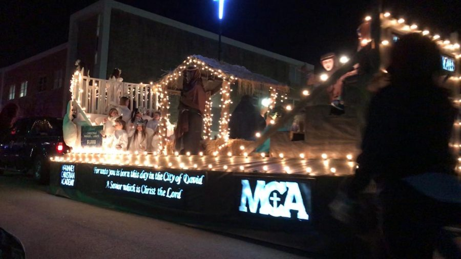 MCA's Nativity float