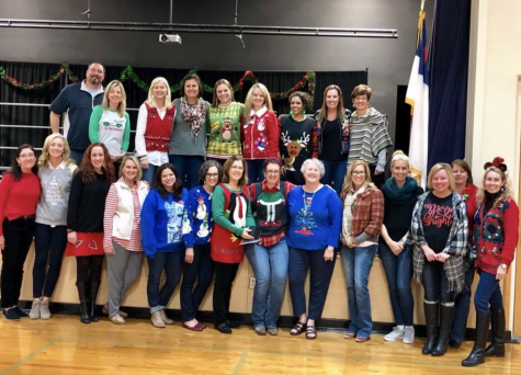 On the final day before winter break, the lower school teachers wear Christmas sweaters for the yearly Christmas parties.