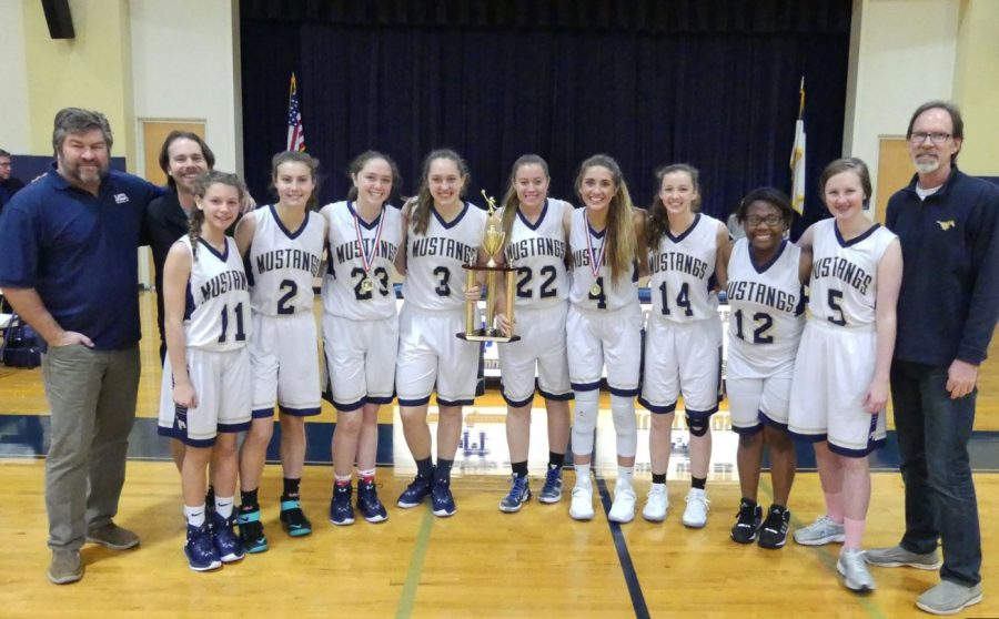 The mustangs win first place in their home tournament, MCA Round-Up.