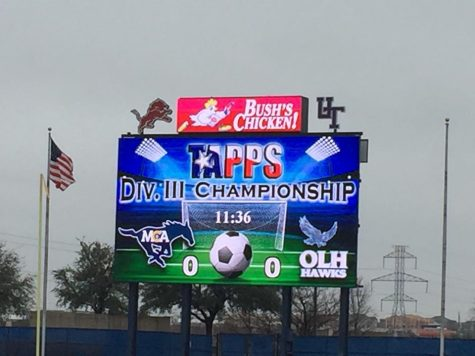 The Lady Mustangs make school history by competing the first time in the State Soccer Championship Game.