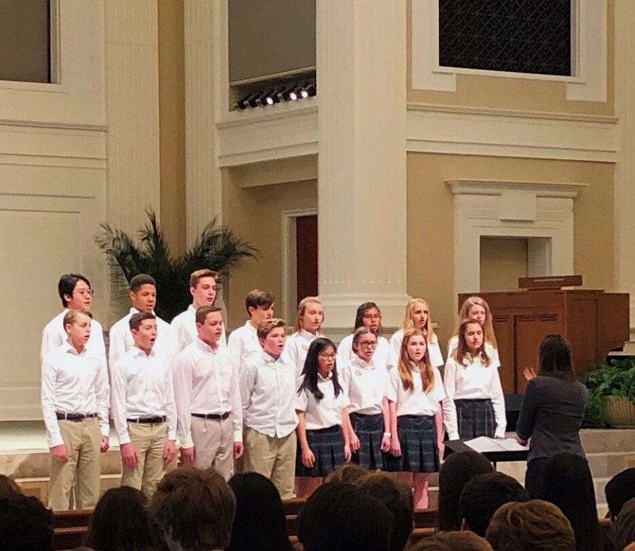 Middle school Choir performs at Prestonwood.