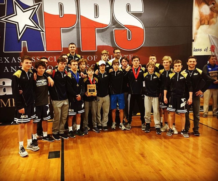 The+MCA+Wrestling+Team+placed+fourth+at+the+TAPPS+State+Wrestling+Tournament.