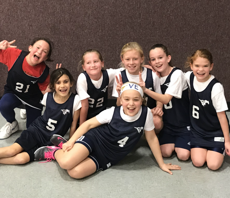 The Lil Stangs 4th grade girls basketball team finishes the season with a victory.