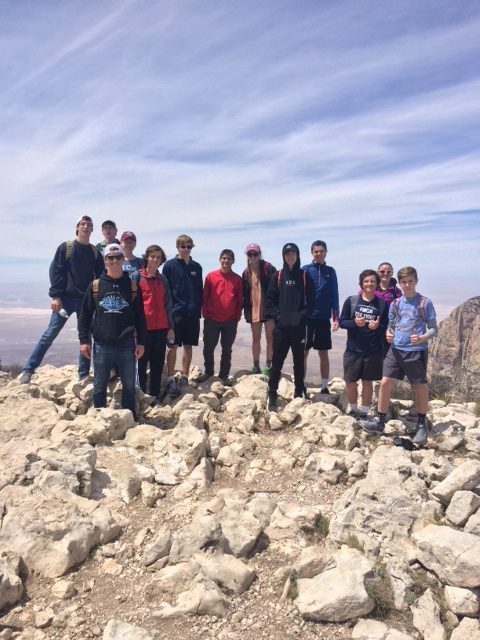 MCA Band stops at top of Guadalupe Peak to take a picture