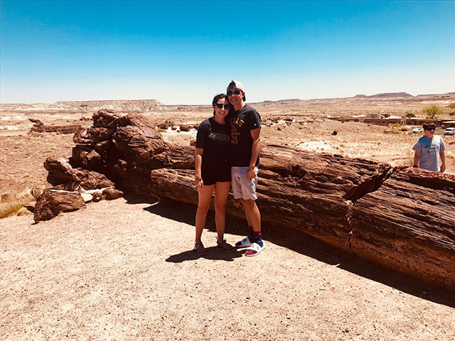 While in Arizona with her boyfriend Zanic before he left for Chicago for Navy training, senior Kristen Daniels went to the Painted Desert.
