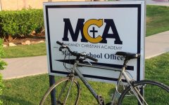 Eighth grader Paul Yu rides his bike to school everyday.