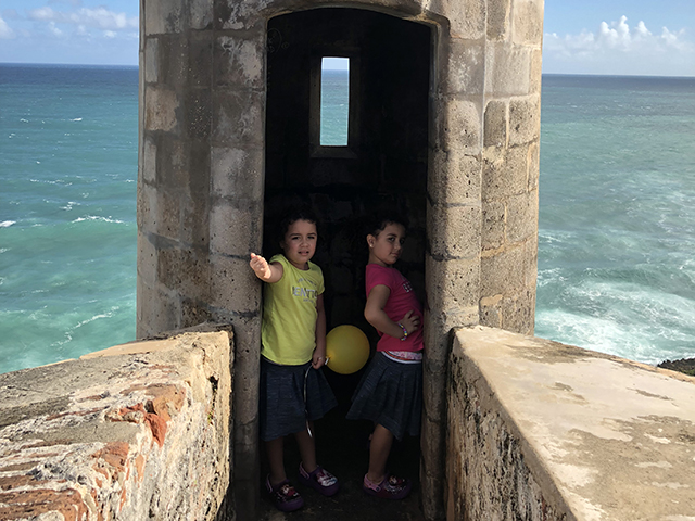 Kindergarten twins Gariella and Daniella Trujillo took a vacation by the beach.