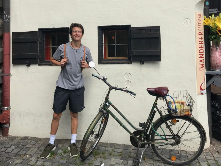 This summer, senior Riley Pyle spent a month with his family in Germany.