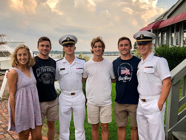 A few days before school started back up, Sam Harrell went to visit his brothers during parents' weekend in Anapolis at the Naval Academy.