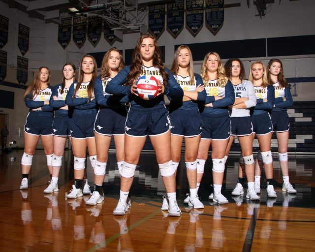 Varsity volleyball is ready for playoffs.
