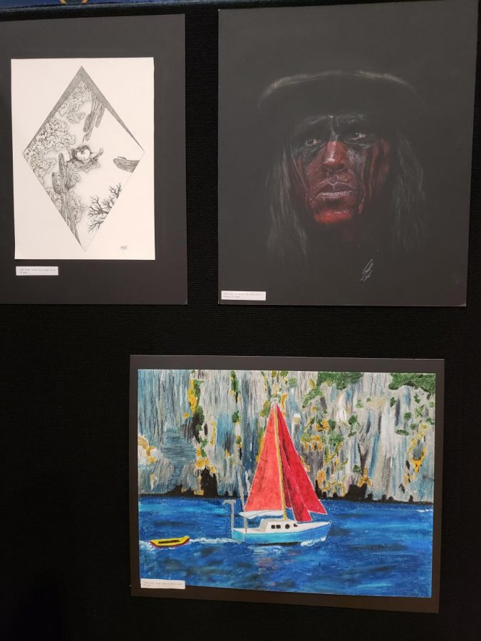 Artwork done by left to right. Caleb Bryant (top left), Caleb Doyle ((top right), Graham Kraft (bottom left)