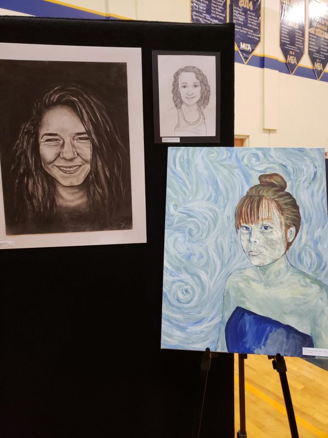 Artwork done by left to right. Joy Chang (top left), Bekah Gross (top right), Joy Chang (bottom right)