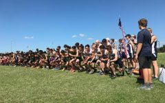 The Varsity Boys are lined up at the starting line at Stephenville, eagerly awaiting the sound of the gun.
