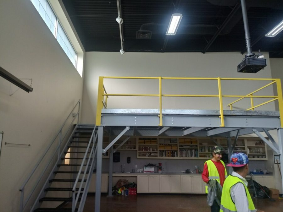 The art mezzanine construction is finished.