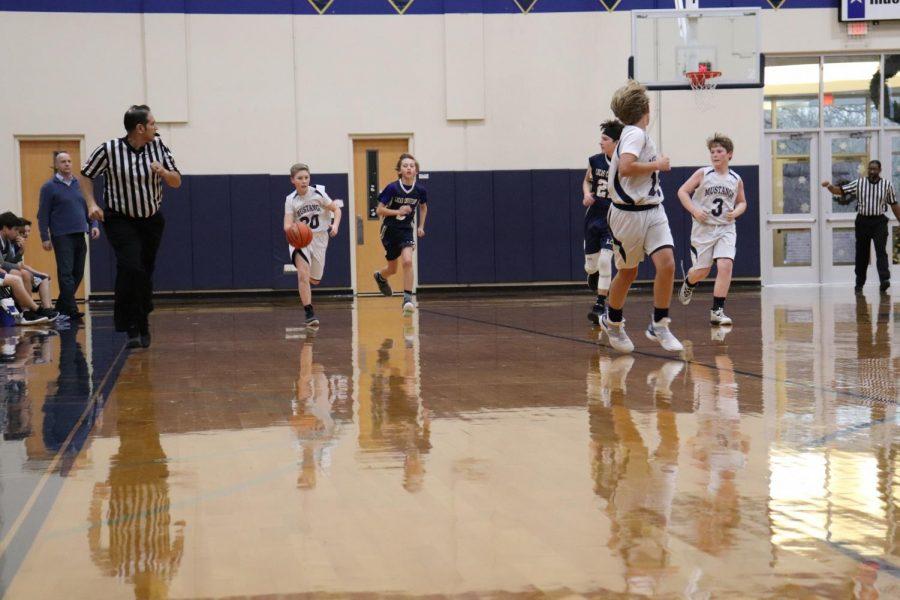 Boys D2 Basketball game against Lucas Christian.