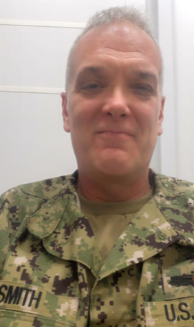 Lieutenant Commander Smith sends MCA a picture thanking them for the care package before Christmas.