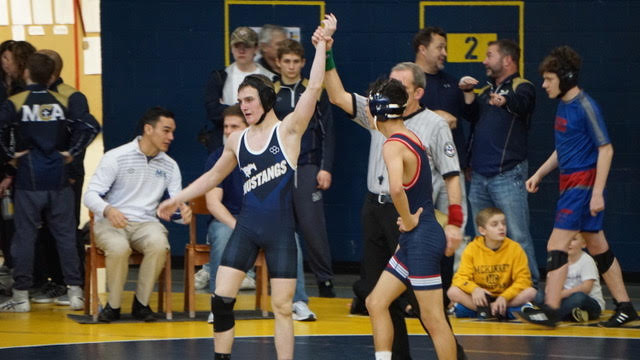 Sophomore Patriot Butler gets one win closer to placing.