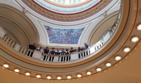 The students at the Oklahoma Capitol after they performed.