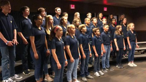 Middle school combined choir sings