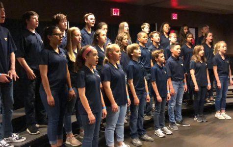 Middle school combined choir sings