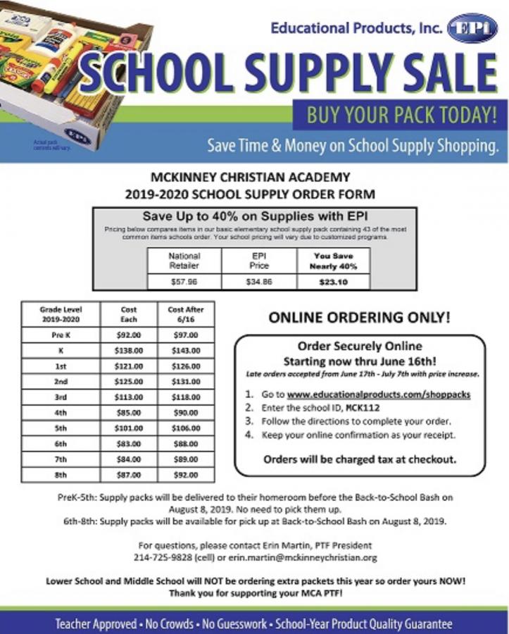 School+Supply+Sale