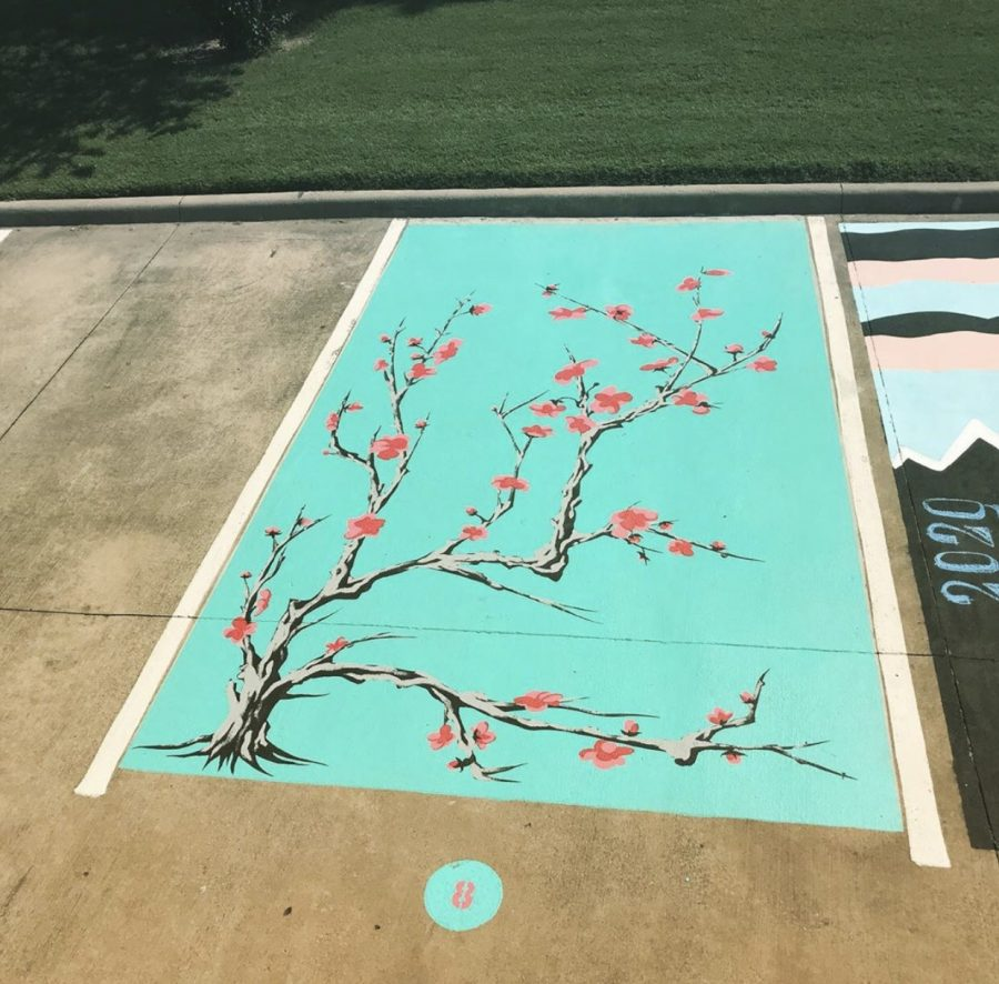 Senior Caleb Bryant's AriZona Green Tea inspired parking spot.