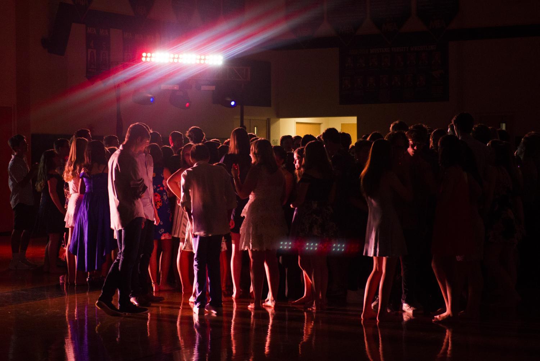 MCA Upper School students dancing the night away at Hawaiian Homecoming.