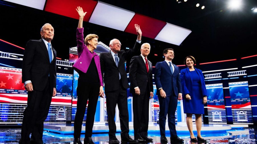 The six candidates post debate on february 19th.