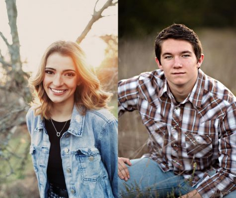 Senior Allie LeBlanc is on the left and senior Ethan Tucker is on the right.