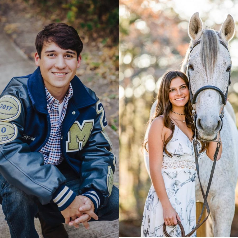 Senior Mark Voelkel is on the left and senior Maura Cueva is on the right.