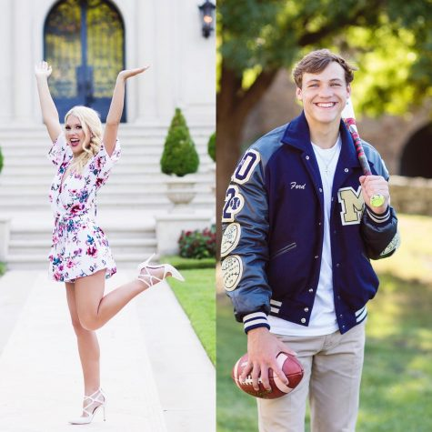 On the left is senior Meg Boone and on the right is senior Ford Dossey.