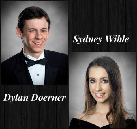 Senior valedictorian Dylan Doerner and salutatorian Sydney Wible.