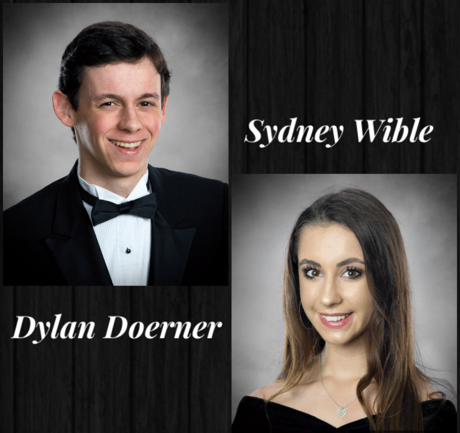 Senior valedictorian Dylan Doerner and salutatorian Sydney Wible.