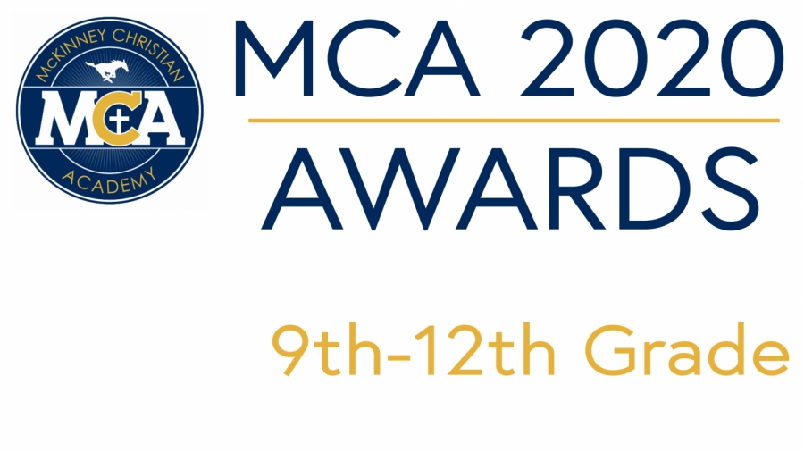 2020 MCA Academic and Timothy Awards