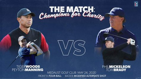 Tiger and Peyton Manning face off against Phil  and Tom Brady