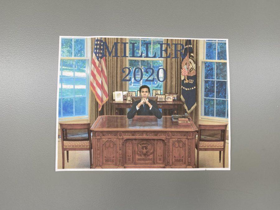 Senior Asa Millers campaign poster.