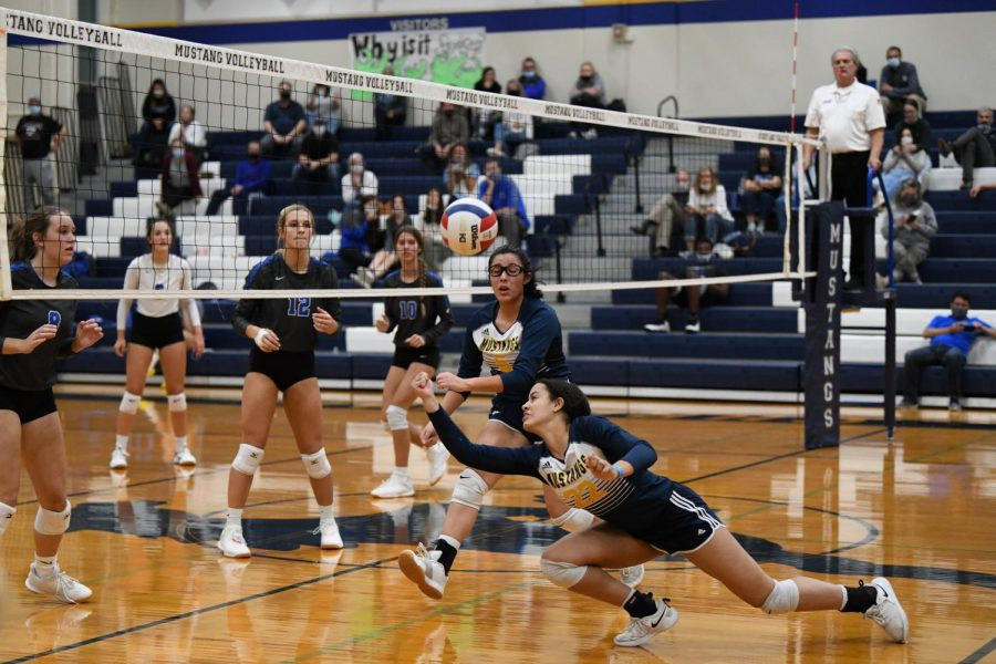Freshman Sky Miller makes a great attempt to save the ball.