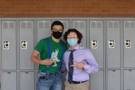Senior Jake Gerardis and junior Grant Simpson looking smart in their mathlete outfits.