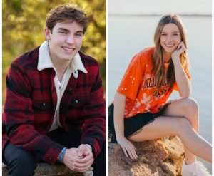 On the left is senior Jacob Finke and on the right is senior Maggie George.