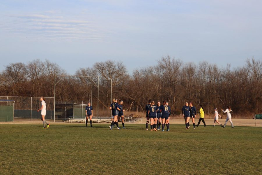Varsity girls soccer wins against THSA 6-2